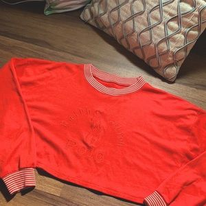 VTG Polo Cropped Sweater